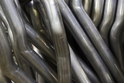 Close up of Exhaust Pipes. Industrial background.