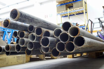 metal tubes in store house